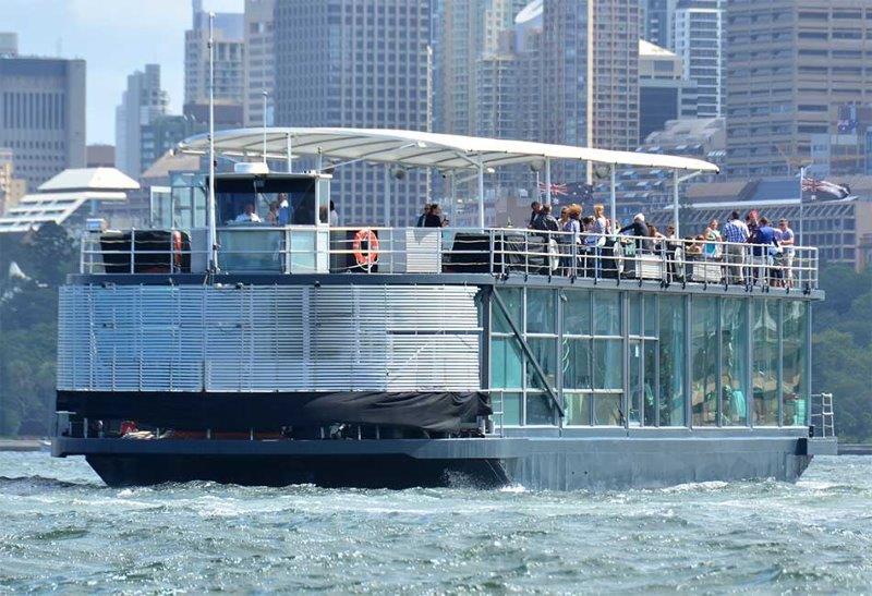 sydney harbour cruises, boat hire sydney harbour, glass boat sydney harbour cruise